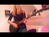 Master Of Puppets- Metallica guitar cover by Cissie Incl. Kirk Hemmett solo